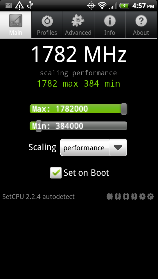 HTC Sensation ed EVO 3D: overclock a 1.8Ghz